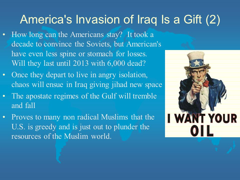 America s Invasion of Iraq Is a Gift (2)