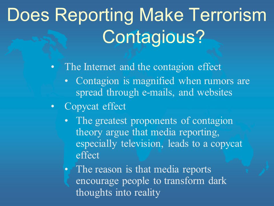 Does Reporting Make Terrorism Contagious