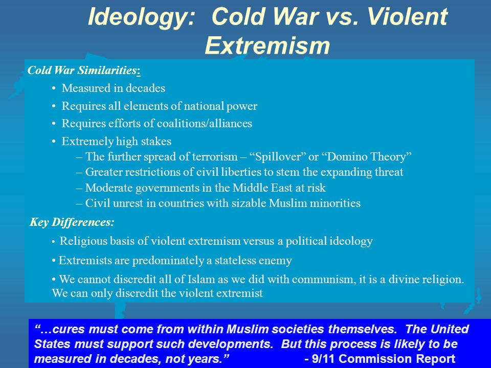 Ideology: Cold War vs. Violent Extremism
