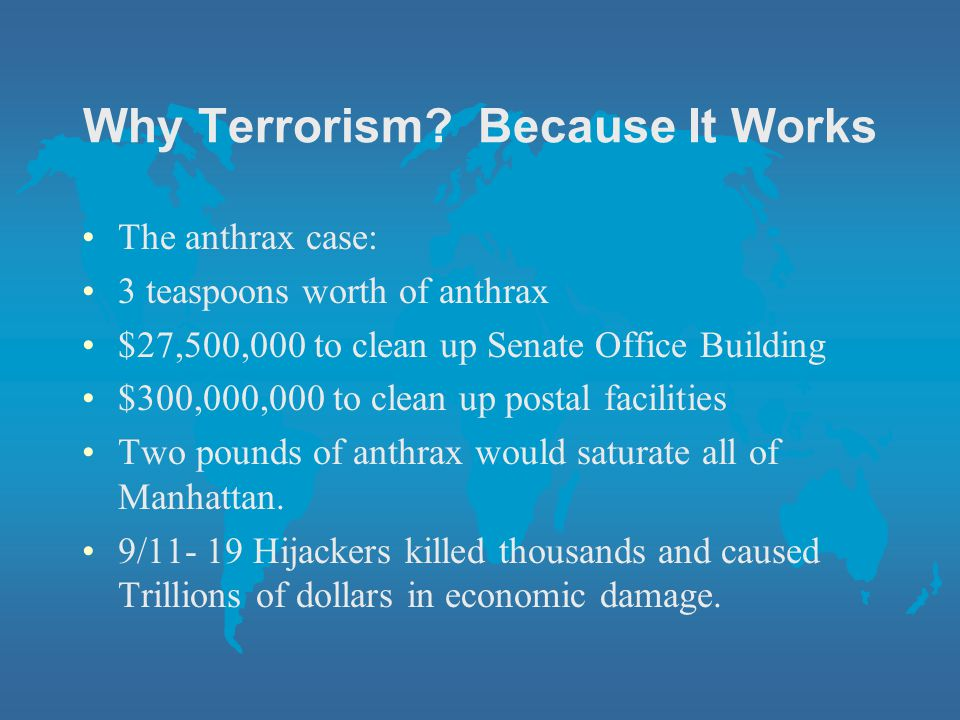 Why Terrorism Because It Works