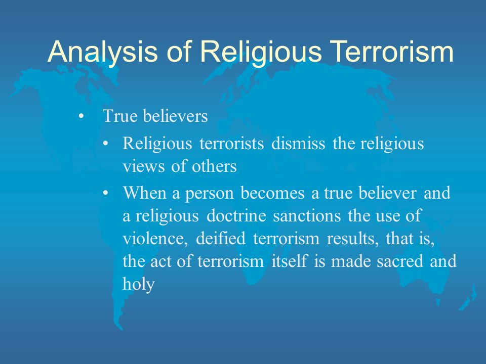 Analysis of Religious Terrorism