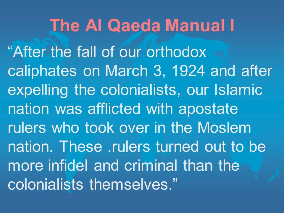The Al Qaeda Manual I
