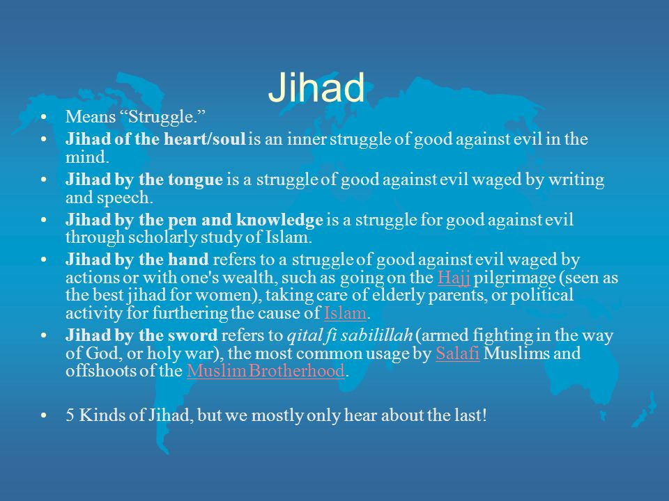 Jihad Means Struggle.