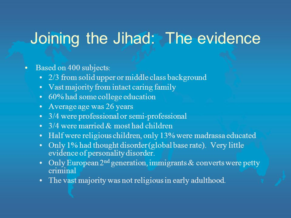Joining the Jihad: The evidence