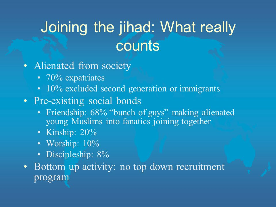 Joining the jihad: What really counts