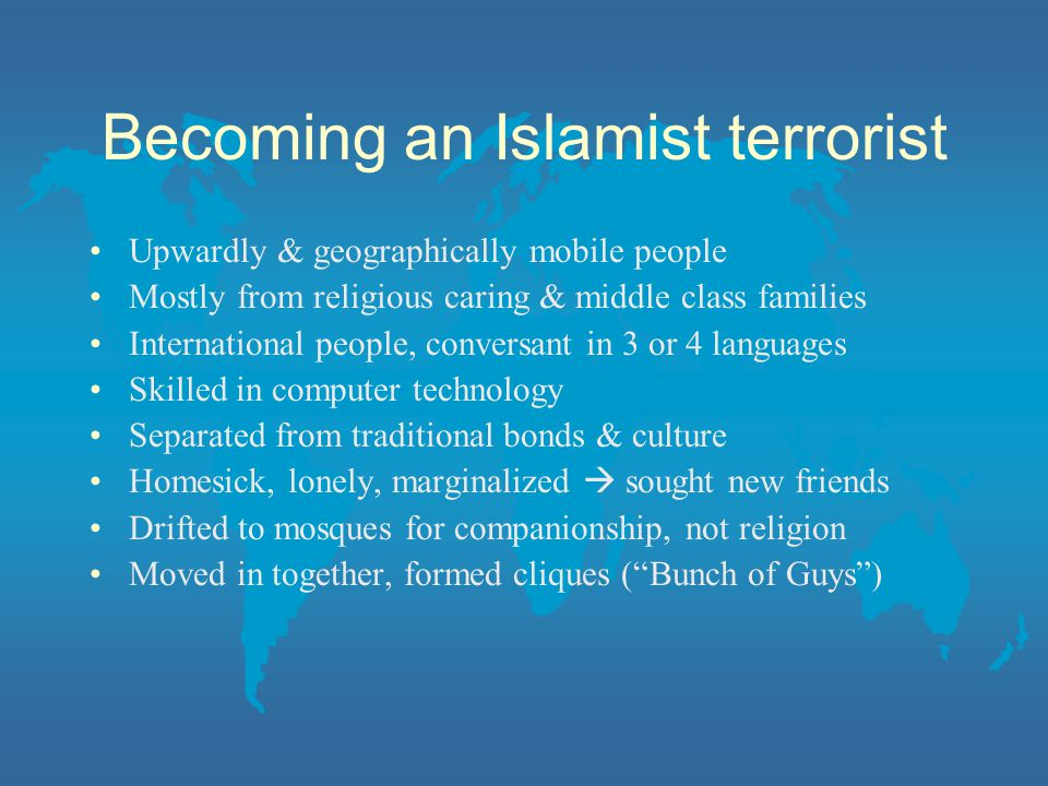 Becoming an Islamist terrorist