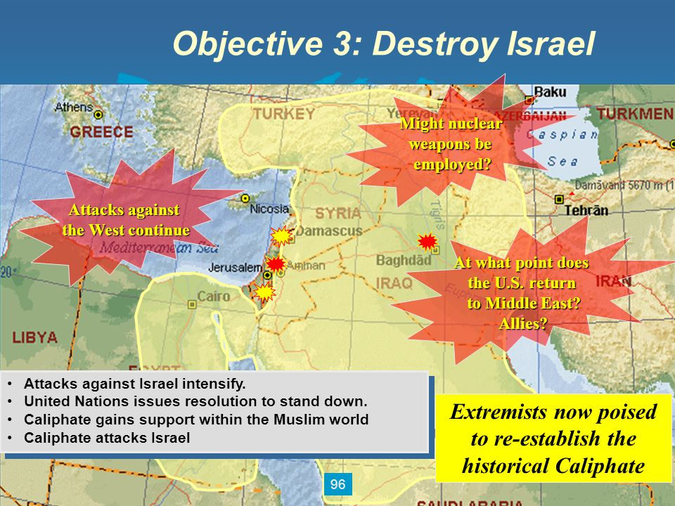 Objective 3: Destroy Israel