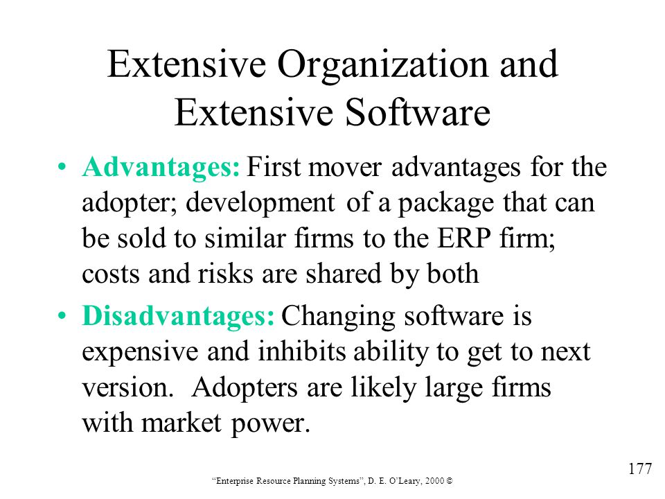 Extensive Organization and Extensive Software