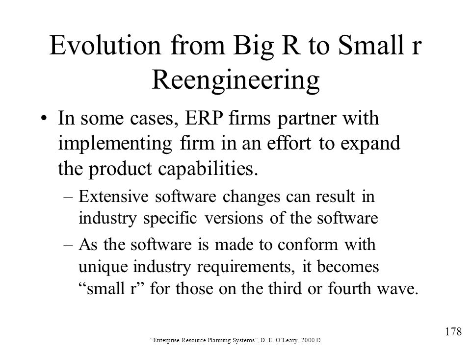 Evolution from Big R to Small r Reengineering