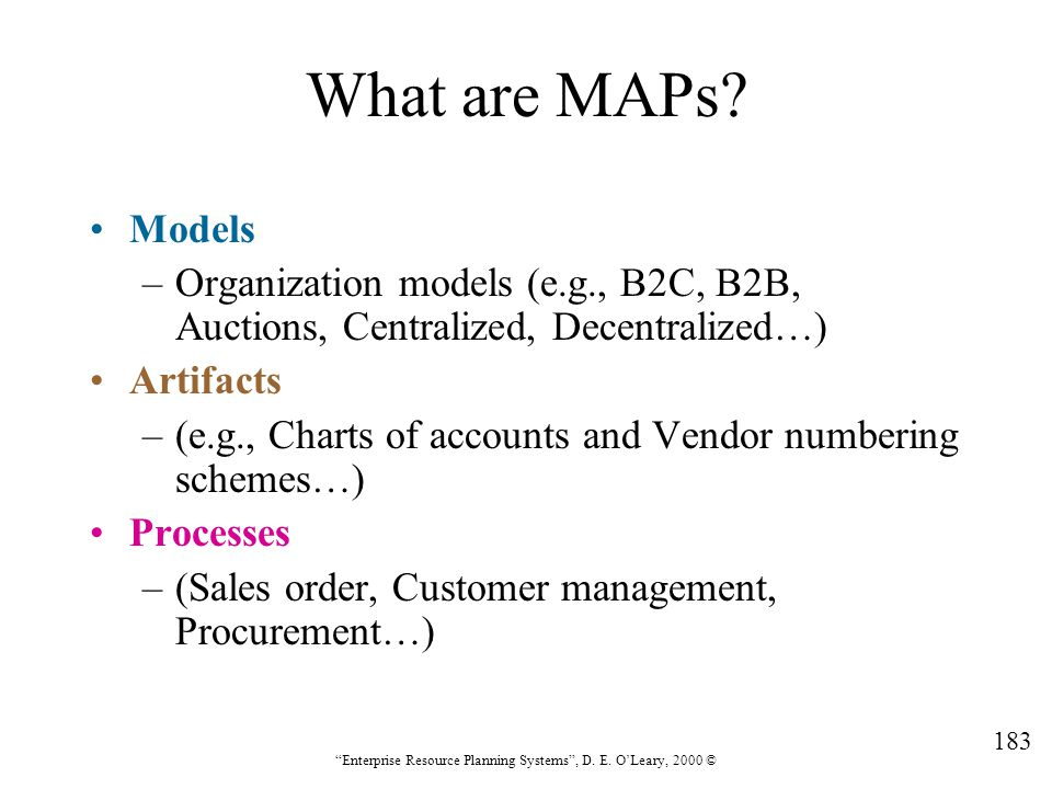 What are MAPs Models. Organization models (e.g., B2C, B2B, Auctions, Centralized, Decentralized…)