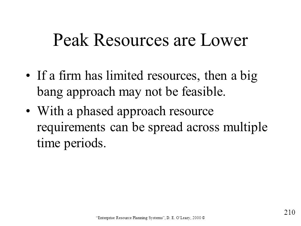Peak Resources are Lower