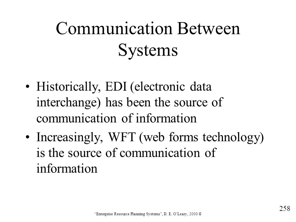 Communication Between Systems