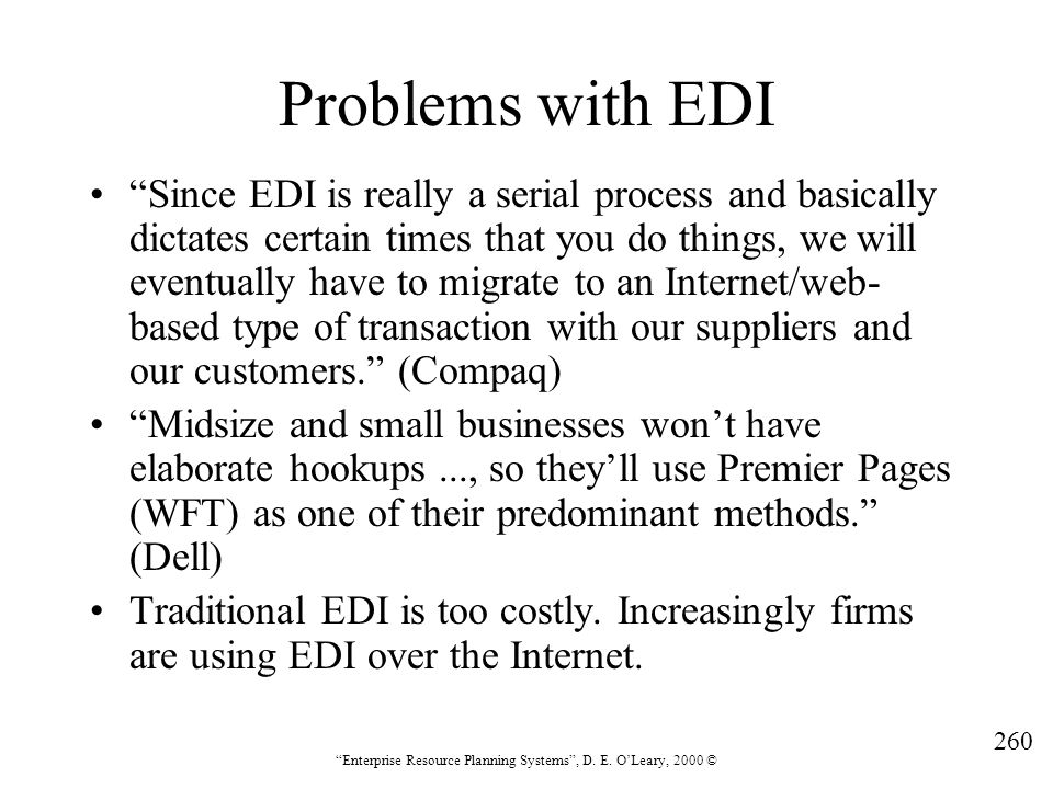 Problems with EDI