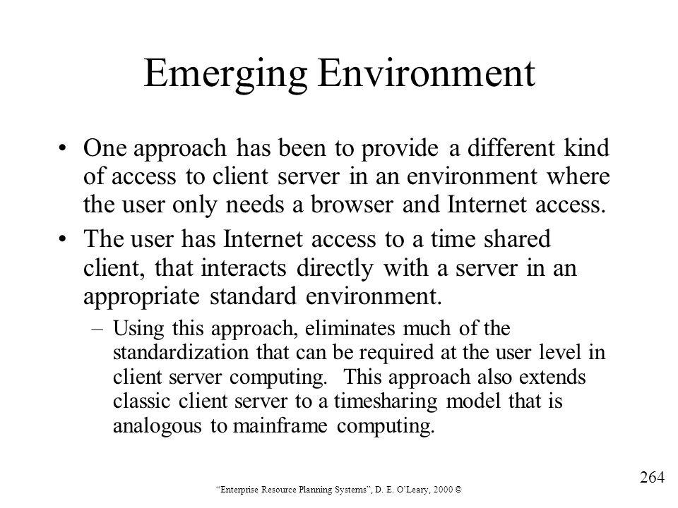 Emerging Environment