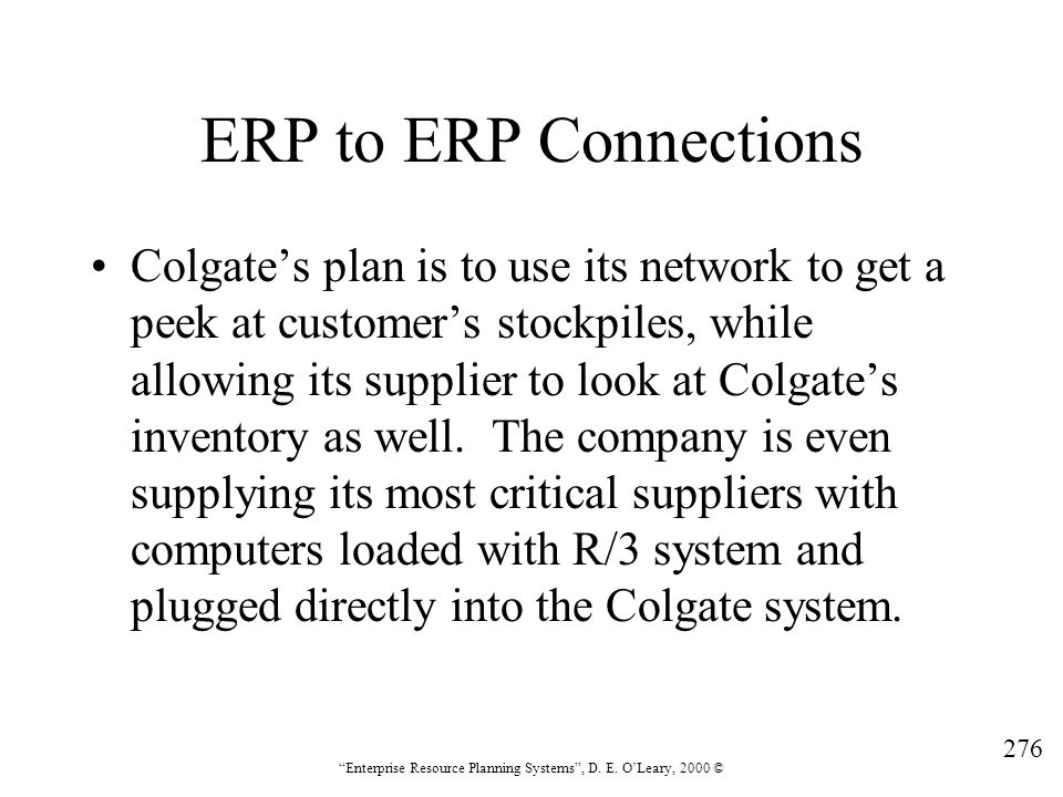 ERP to ERP Connections