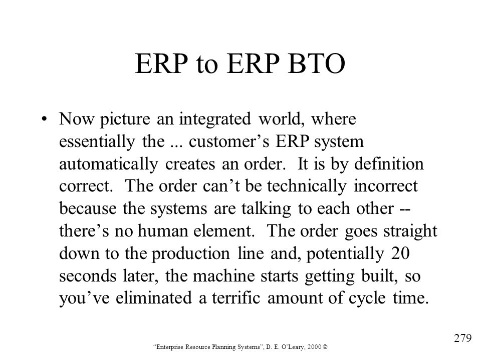 ERP to ERP BTO