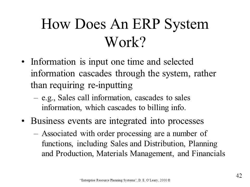 How Does An ERP System Work
