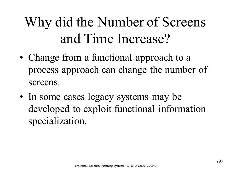 Why did the Number of Screens and Time Increase