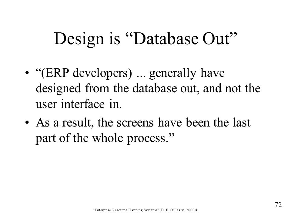 Design is Database Out