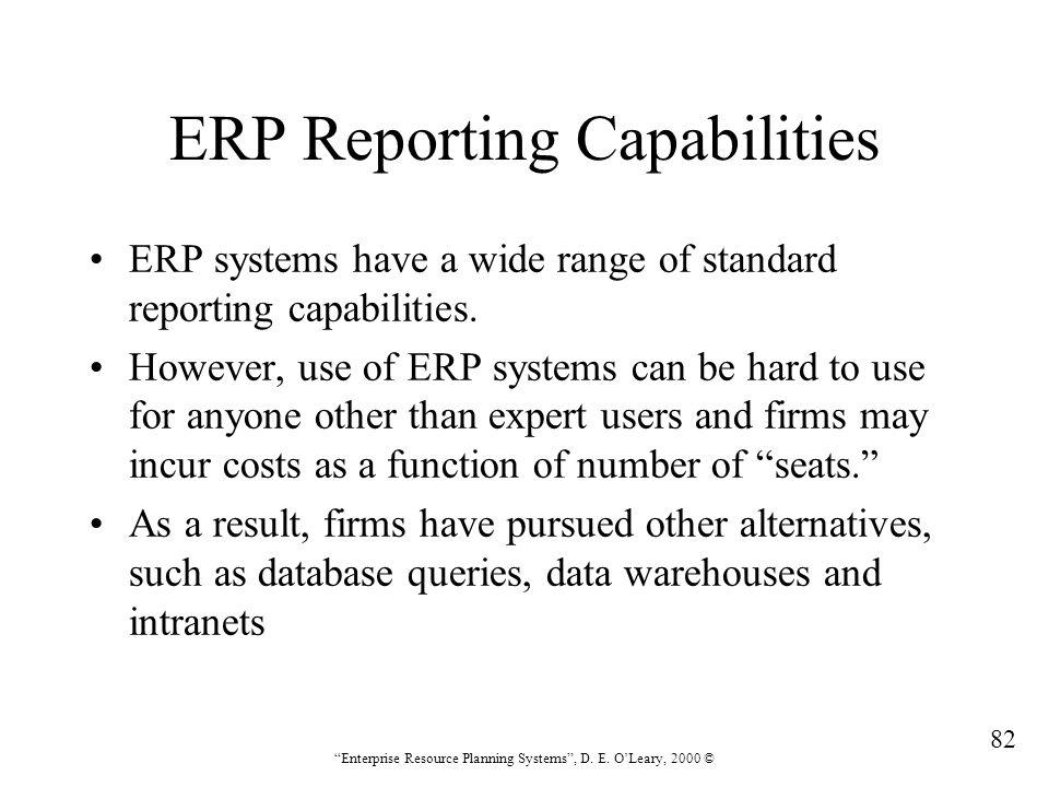 ERP Reporting Capabilities