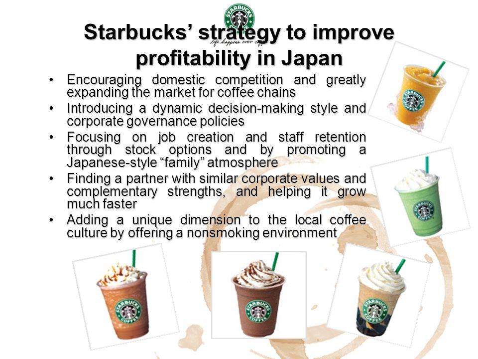 Starbucks' strategy to improve profitability in Japan