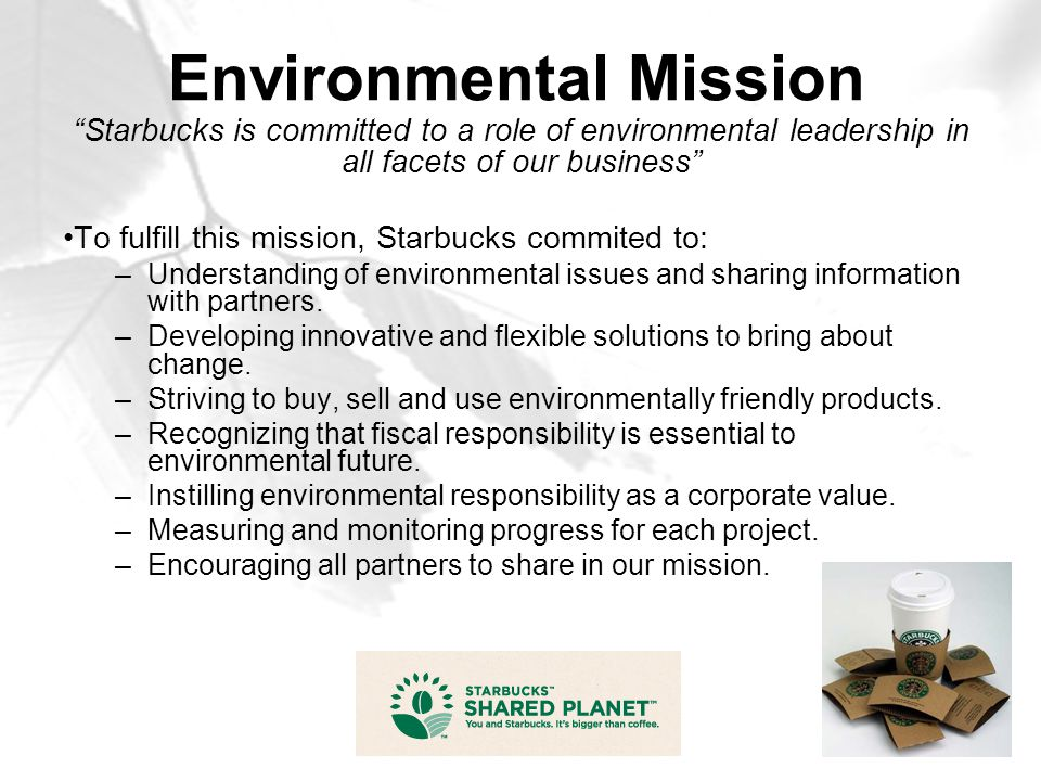 Environmental Mission