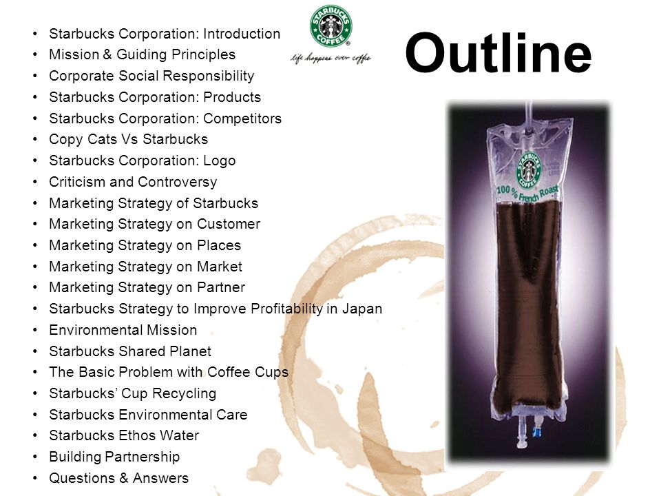 Outline Starbucks Corporation: Introduction