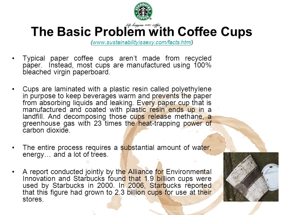 The Basic Problem with Coffee Cups (www. sustainabilityissexy