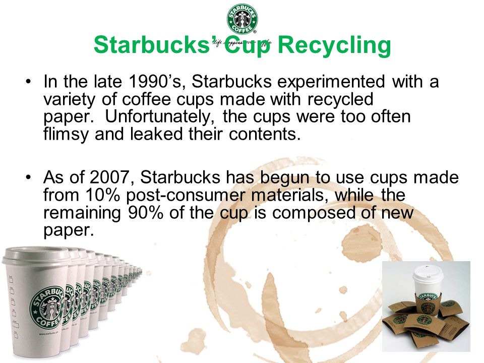 Starbucks' Cup Recycling