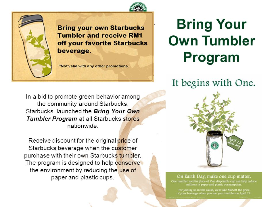 Bring Your Own Tumbler Program