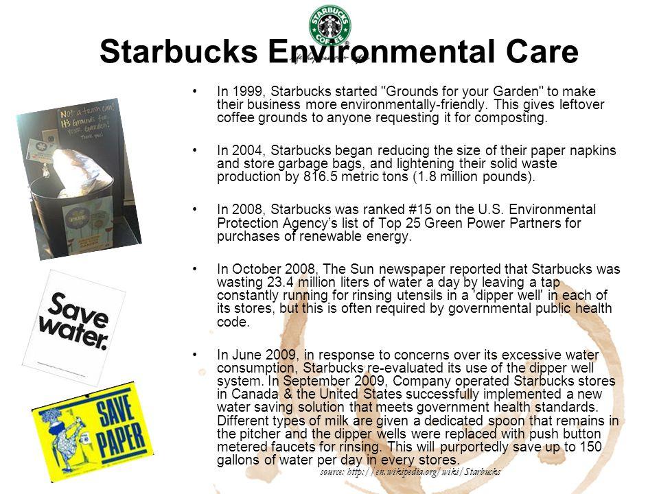 Starbucks Environmental Care