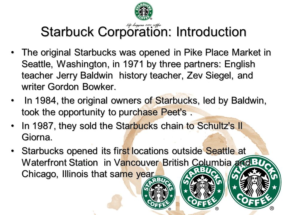 Starbuck Corporation: Introduction