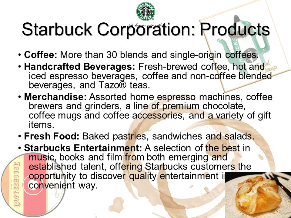 Starbuck Corporation: Products