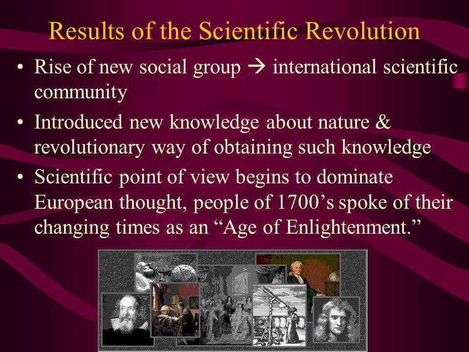 Results of the Scientific Revolution