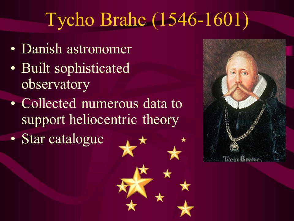 Tycho Brahe (1546-1601) Danish astronomer