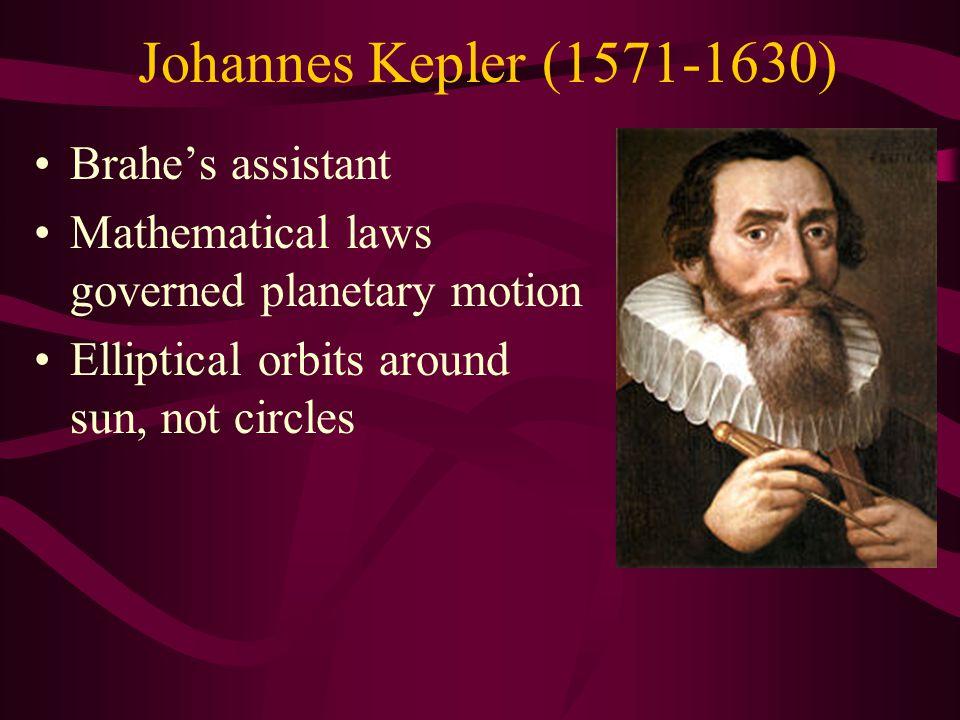 Johannes Kepler (1571-1630) Brahe's assistant