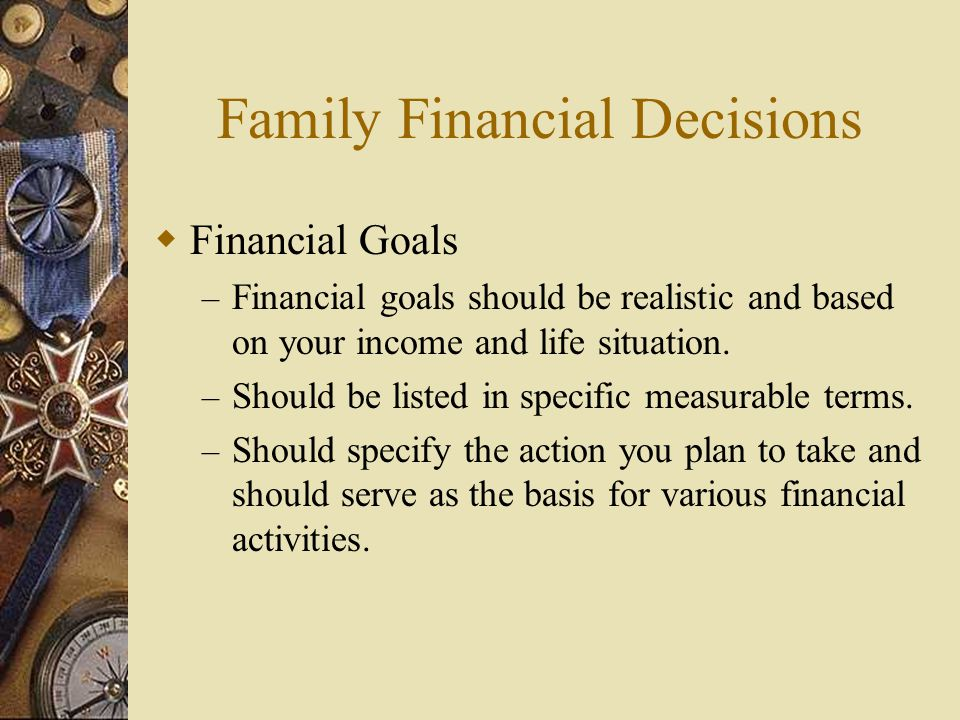 Family Financial Decisions