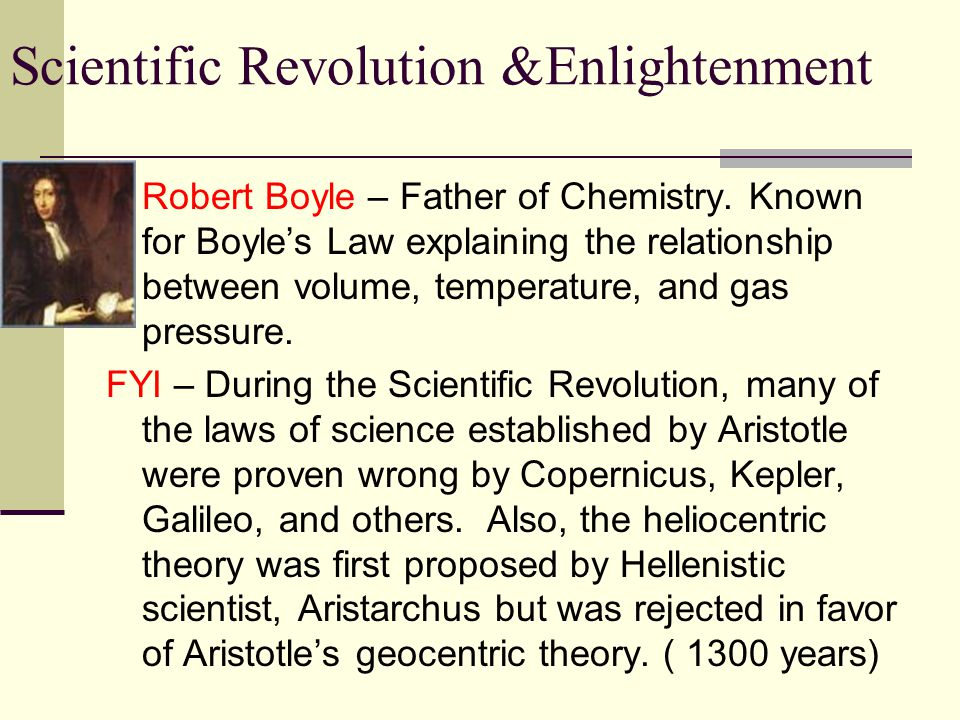 Robert Boyle – Father of Chemistry