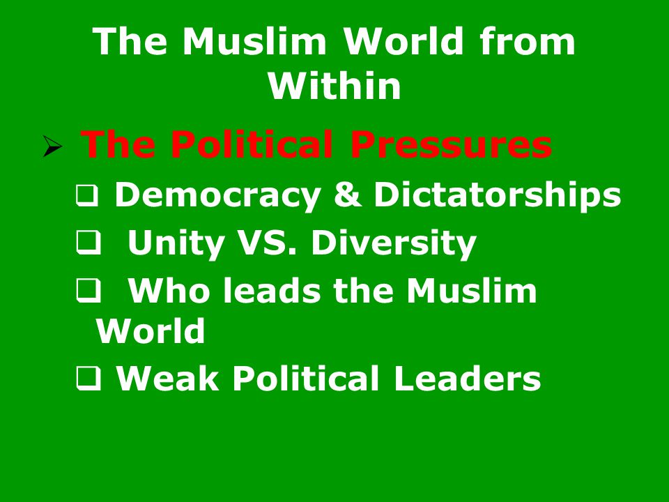 The Muslim World from Within