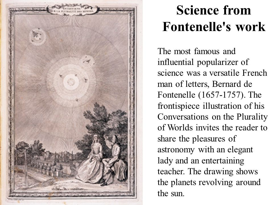 Science from Fontenelle s work