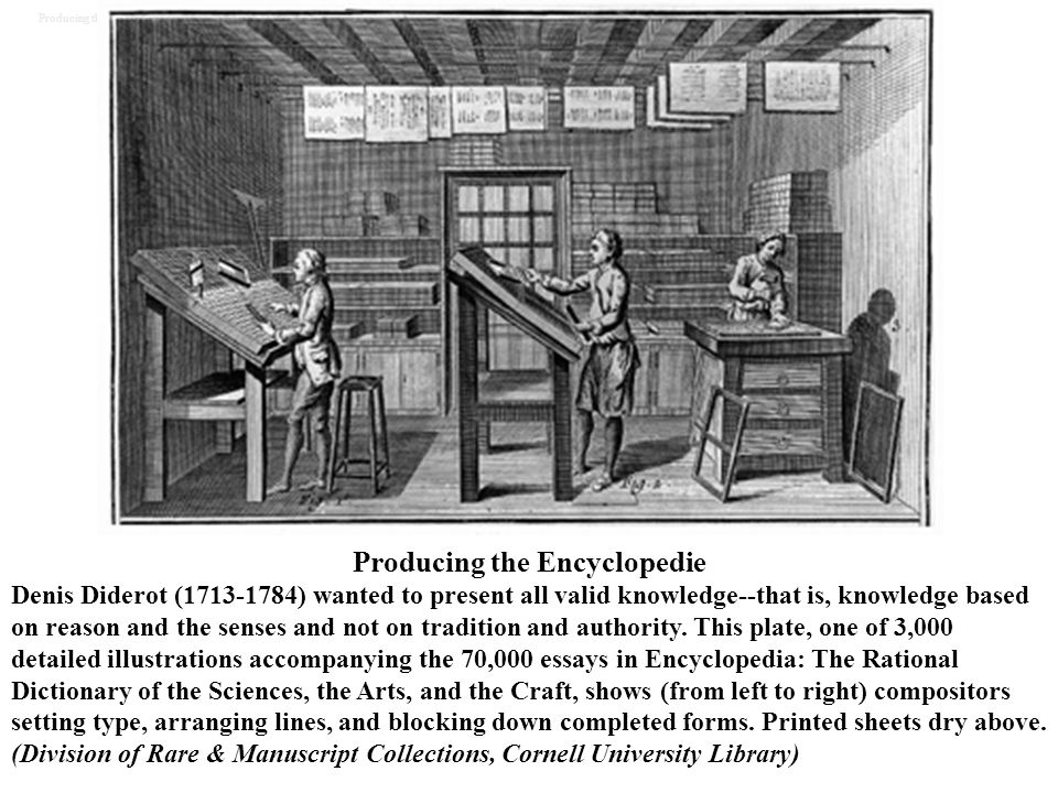 Producing the Encyclopedie