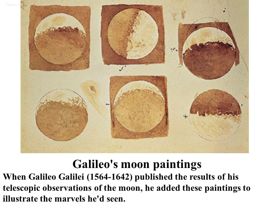 Galileo s moon paintings