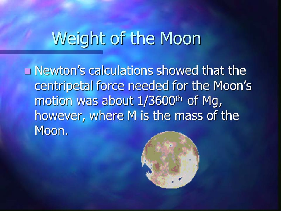 Weight of the Moon