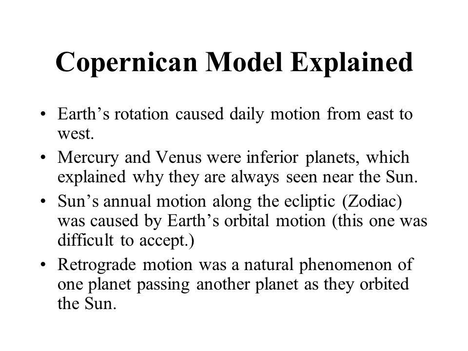 Copernican Model Explained