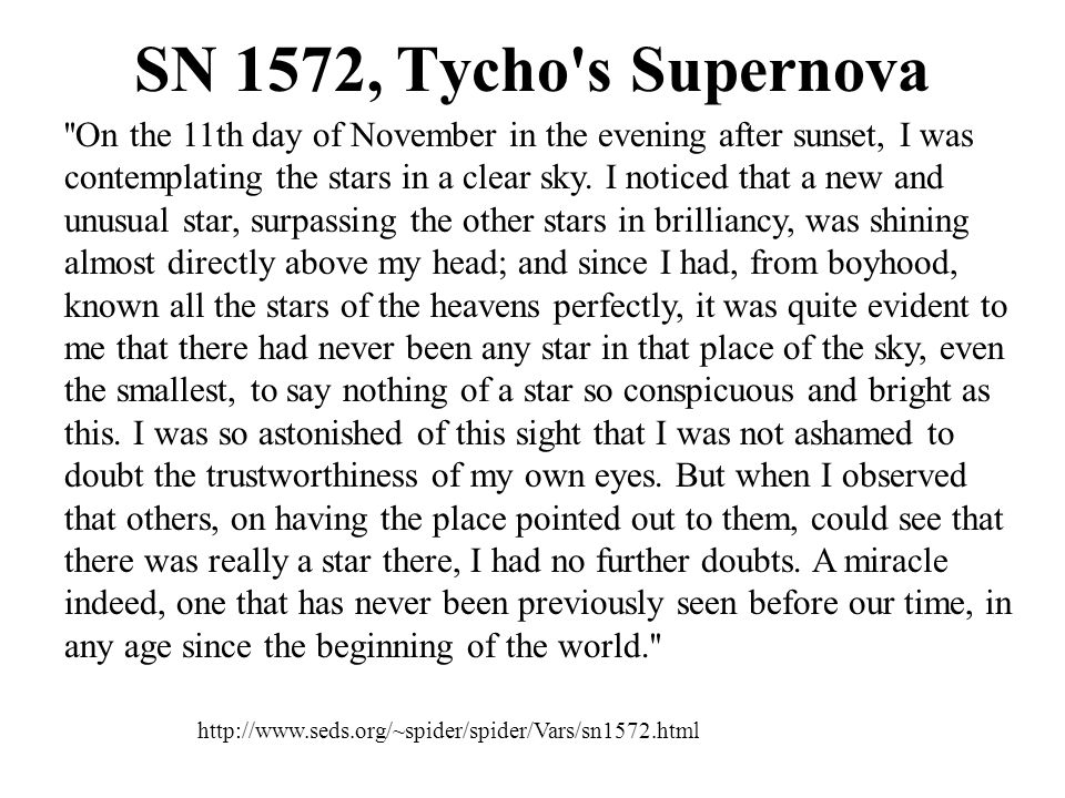 SN 1572, Tycho s Supernova