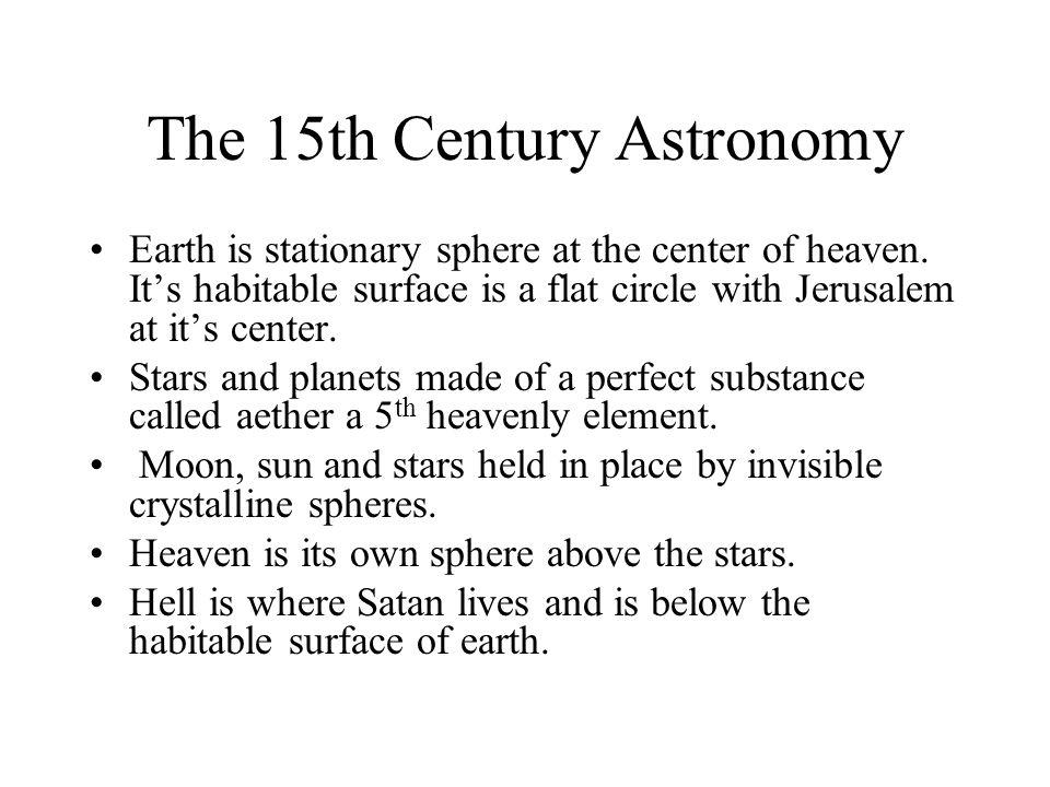 The 15th Century Astronomy