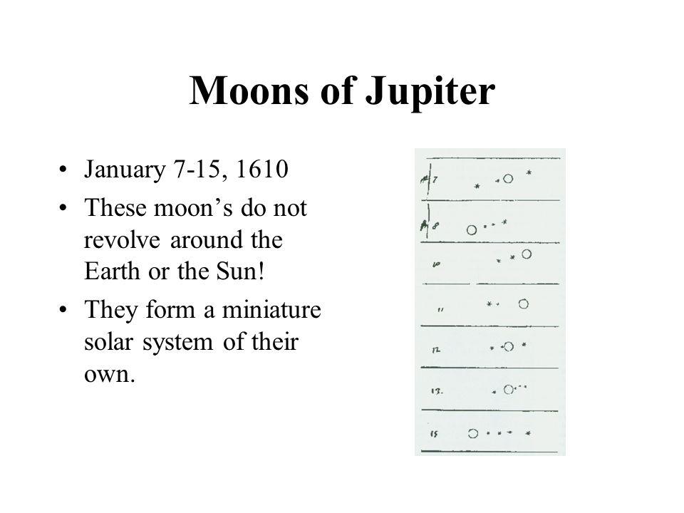 Moons of Jupiter January 7-15, 1610