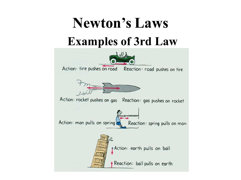 Newton's Laws Examples of 3rd Law