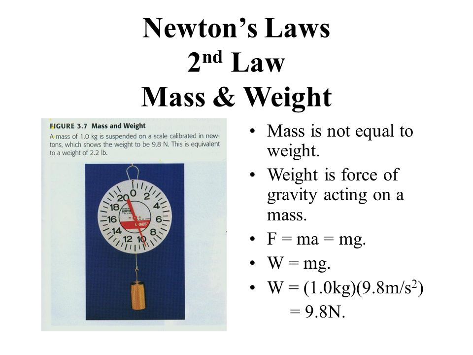 Newton's Laws 2nd Law Mass & Weight