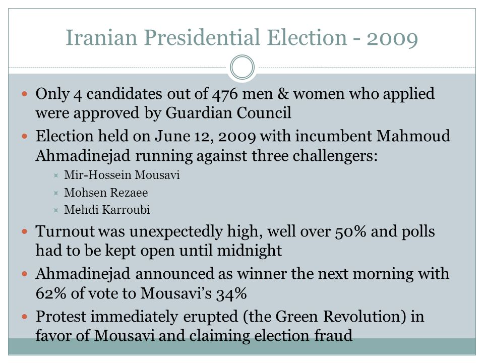Iranian Presidential Election - 2009